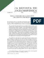 Para La Historia de La Expansión Del Español Por Mexico