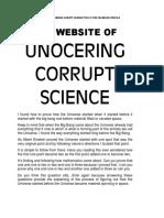 Unocering corrupte science