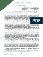 Porter - 2005 - Foucault's Ascetic Ancients