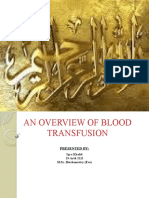 An Overview of Blood Transfusion