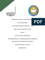 ANTECEDENTES PRÁCTICA 3; PROPIEDADES DE LOS COMPUESTOS IÓNICOS Y DE LOS COMPUESTOS COVALENTES