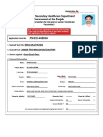National Testing Service (NTS) Form sample