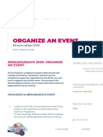 Organize an event - Erasmusdays2020