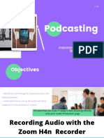 setting up professional audio kit