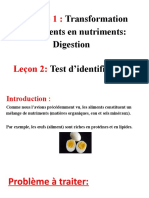 La digestion - test d'identification