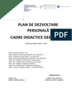 Plan de dezvoltare personală