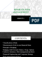 58 58 Corporate Risk Management