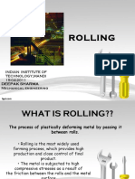 Rolling Operation & Sequence