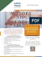 Qualification de revetements de surface