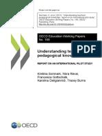 Understanding teachers' pedagogical knowledge, 2017