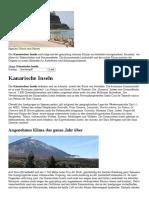 Kanarischen Inseln - Kanaren locken mit herrlicher Natur & Ständen