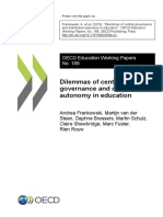 Dilemmas of central governance and distributed autonomy in education, 2018