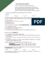 Test enlaces Químicos