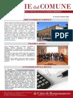 Notizie Dal Comune di Borgomanero del 16-10-2020