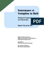 RAPPORT Gouvernance et Corruption 2007
