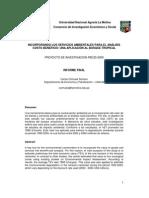 Incorporando Los Servicios Ambient Ales Para Que Analisis Costo Beneficio
