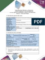Guía de actividades y Rúbrica de evaluación - Tarea 3 - Línea de tiempo