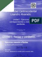 Ejercicios Rectas y Parabolas 1
