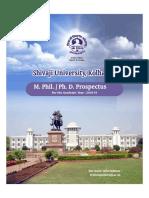 M. Phil Ph.D Prospectus 2018-19
