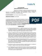 FCO-C-009-2020 ACTA DE SELECCIÓN