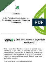 MODULO III-2 Participación Ciudadana y  Denuncias ambientales