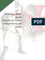 guillem de mont-rodón maestre y preceptor del rey jaime I