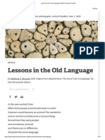 Lessons in the Old Language _ Global Oneness Project