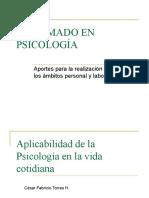 Aplicabilidad de la Psicología