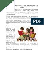 La Importancia de La Lectura en El Desarrollo de Los Niños