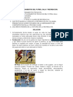 TALLER FUNDAMENTOS DEL FUTBOL SALA Y RECREACION