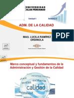 SEMANA 1A- FUNDAMENTOS DE LA CALIDAD