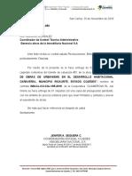 OFICIOS ENTREGA DE VALUACIONES