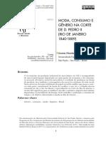 MODA, CONSUMO E GÊNERO NA CORTE DE D. PEDRO II