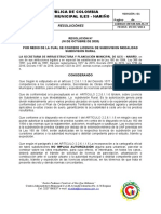 LICENCIA DE SUBDIVISON RURAL N º  ANDRES OSWALDO GONZALES