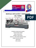 MONTAJE, NIVELACIÓN Y VERIFICACIÓN DEL TORNO.pdf