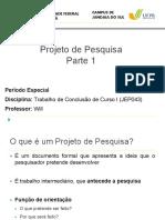 Introdução ao Projeto de Pesquisa