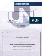 Certificado - Dificuldades de aprendizagem