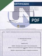 Certificado - Metodologias ativas na educação
