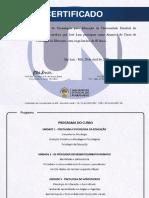 Certificado - Psicologia da educação