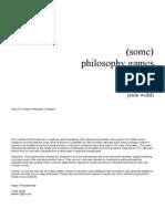 philosophy games