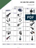USB-TEK Catalog List for Car MP3