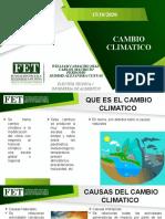 CAMBIO CLIMATICO- OBJETIVO DESARROLLO SOSTENIBLE