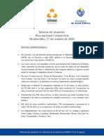 Informe de Situación Sobre Coronavirus COVID-19 en Uruguay 17 10 2020)