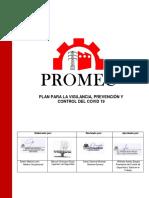 PLAN PARA VIGILANCIA, PREVENCION Y CONTROL DE COVID-19-PROMEC VENTAS Y SERVICIOS SRL
