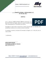 certificacion laboral SERVIMANT.docx