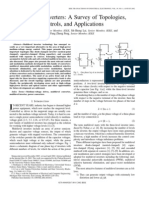 Multilevel Inverters A survey of Topologies Control and Applications