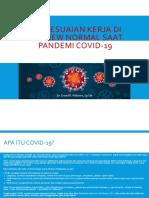 Penyesuaian Kerja di Era New Normal Pasca Covid-19