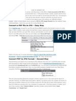 HOW TO CONVERT PDF