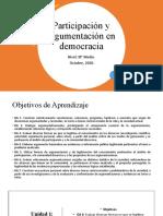 Clase participación y argumentación en democracia (introducción)
