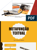 METAFUNÇÃO TEXTUAL